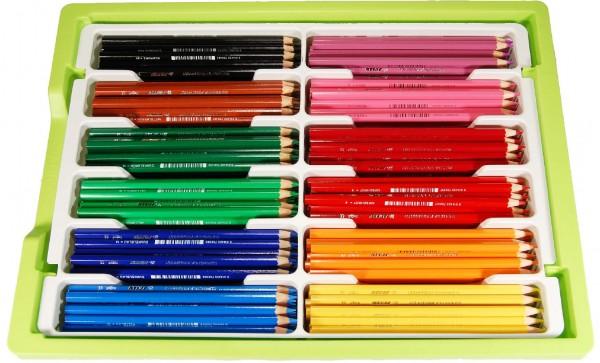 Jolly Kinderfest Buntstifte 240 Stück in 12 Standardfarben in der Big Box