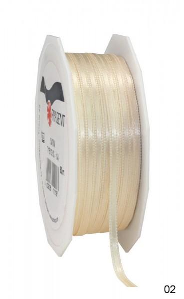 Satinband Breite 3 mm, Länge 50 m, Preis pro Rolle