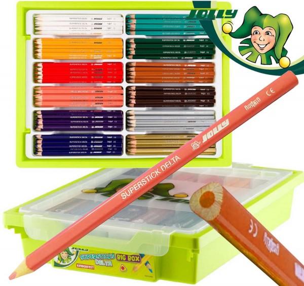Jolly Supersticks DELTA 3-kant Buntstifte 240 Stück Ergänzungsfarben