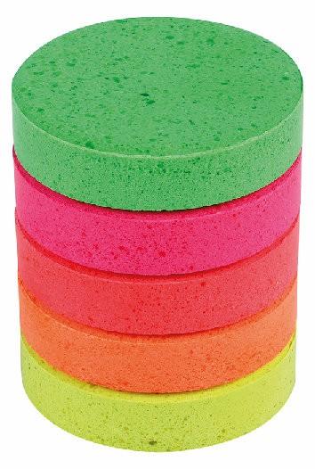 Wasserfarben-Blocks 55 mm mit 5 Neon-Farben