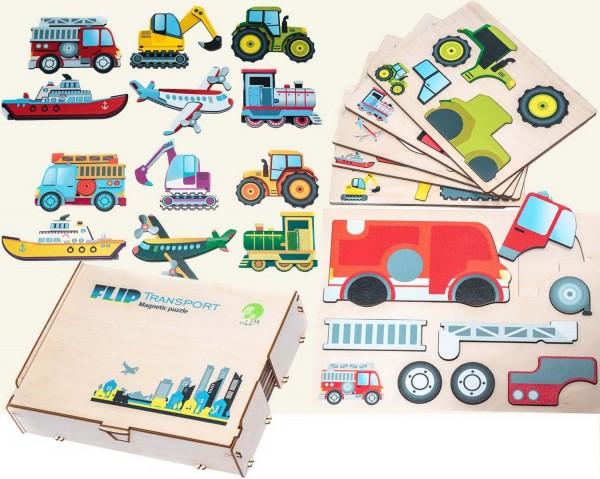 """Puzzle magnetisch, Motiv """"Transport"""""""