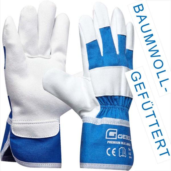 Arbeitshandschuhe Premium Blue Junior, Größe 4-6 Jahre.