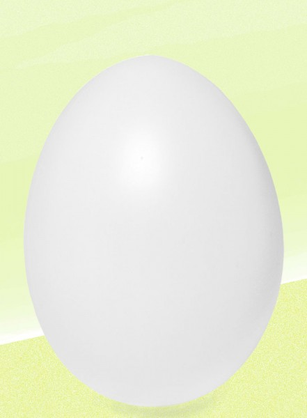 Kunststoff-Eier weiß