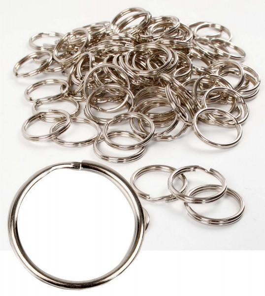 Spaltring aus Metall für Schlüsselanhänger
