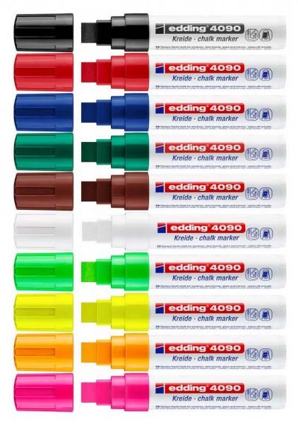 Window Marker SET Edding 4090, Keilspitze 4-15 mm, alle 10 Farben