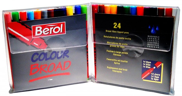 Berol Filzstifte Colour Broad - Etui 24 Farben