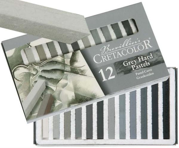 Pastellkreide von Cretacolor, 12 Grautöne im Kartonetui