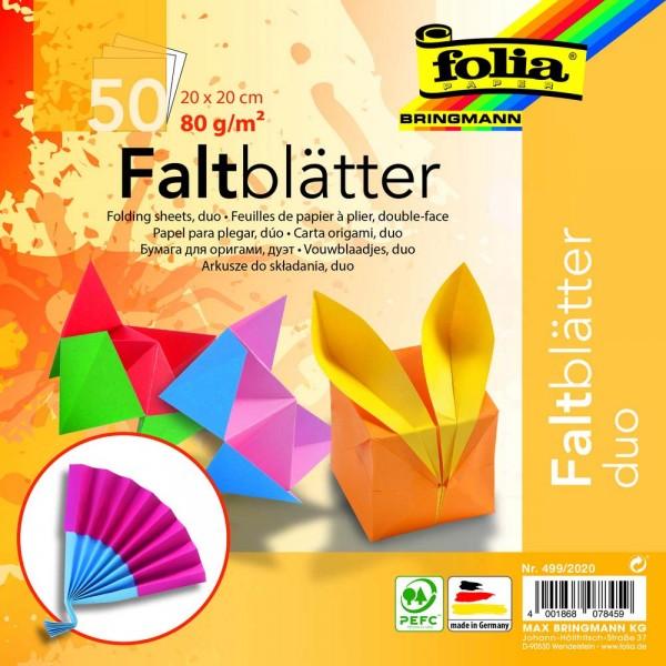 Faltblätter Duo, 80 g, 50 Blatt