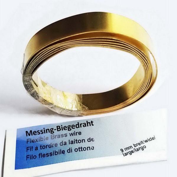 Messingband / Biegedraht für Schmelzgranulat, 9 mm x 1 m