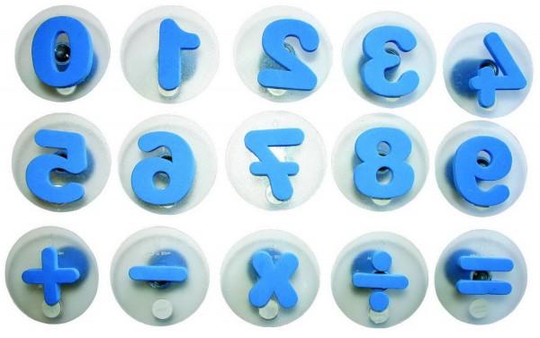Riesenstempel Zahlen, Packung mit 15 Stück