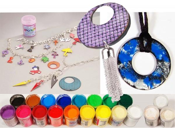 Email-Farbschmelzpulver zum Schmelzen, je 25 ml, Preis pro Stück