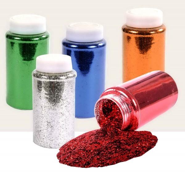 Glitter zum Streuen, Packung mit 500 ml in einer Farbe