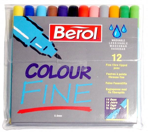 Berol Filzstifte Colour Fine - Etui 12 Farben