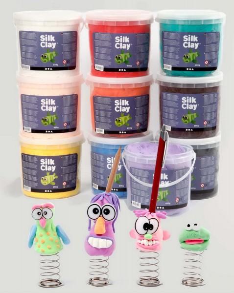Silk Clay Knetmasse SET, 10 x 650 g in 10 verschiedenen Farben