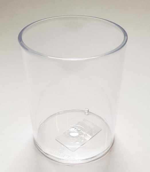 Kunststoffköcher / Kunststoffbecher, transparent