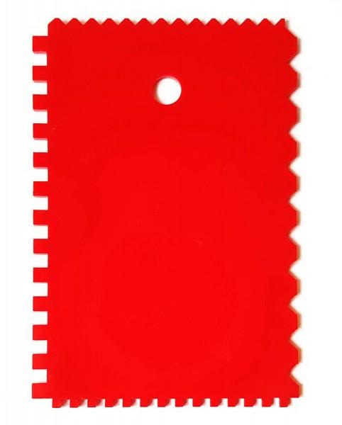 Kunststoffspachtel / Spachtel, 4-seitige Zahnung