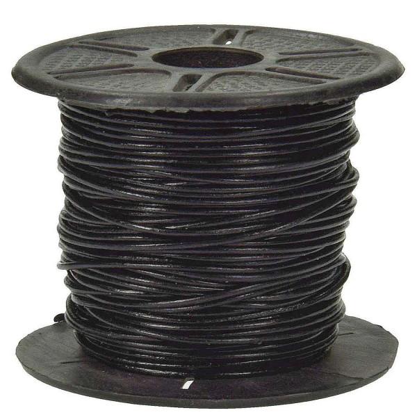 Lederband rund, 25 m, 1,6 mm, schwarz