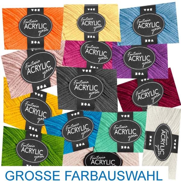 Acryl Wolle 50 g, 3-fädig, 80 Laufmeter, Preis pro Knäuel