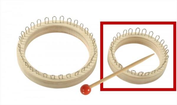 Strickring klein oder groß, plus 1 Stricknadel und Anleitung