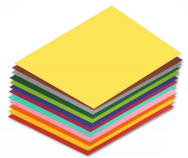 Tonpapier/Naturpapier 130 g/qm, Format A4, 100 Blatt einer Farbe