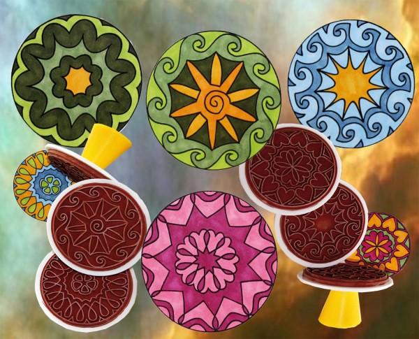 Mandalastempel Motive, 6 Stück
