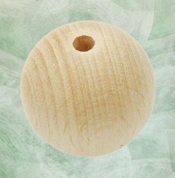 Holzkugeln natur mit Bohrung
