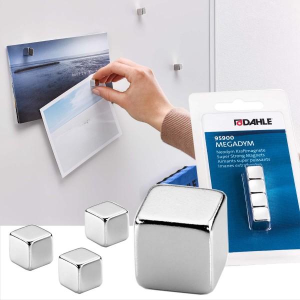 Megadym Magnet Cube, 10 x 10 x 10 mm, Haftkraft 50 N, 4 Stück
