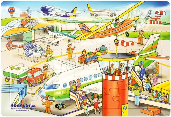 Puzzle Flughafen, Material: Karton, 45 x 30 cm, 35 Teile