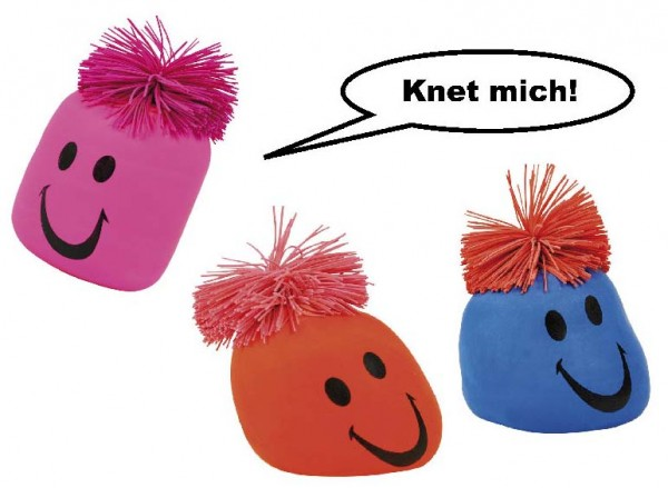 Knautschballon, Preis für 3 Stück sortiert
